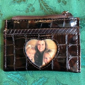 Brighton leather coin/card croc design wallet